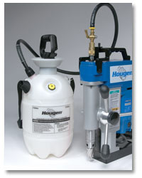 Presurized coolant system provides longer tool life and better coolant flow for drilling holes