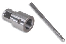 "Adapter to use RotaLoc Plus cutters in arbors that require 3/4"" shanks"