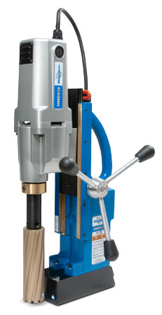 """Drill holes up to 6"""" deep with the HMD918 Magnetic Drill"""